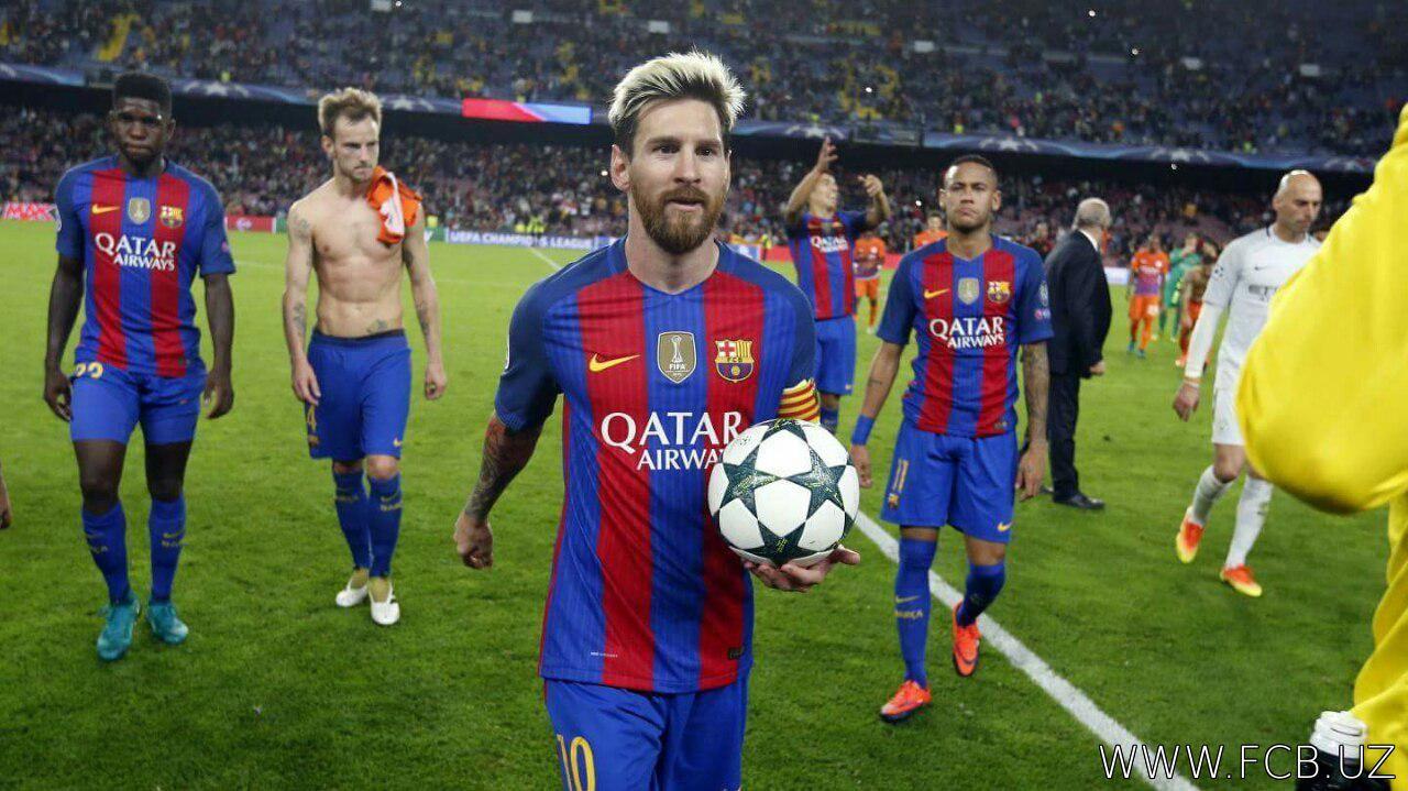 UCL to'purarlari: Messi peshqadam bo'lib oldi